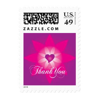 El corazón de Lotus le agradece pequeño franqueo Timbres Postales