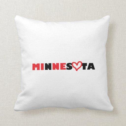 El corazón de Minnesota es el mío Almohada