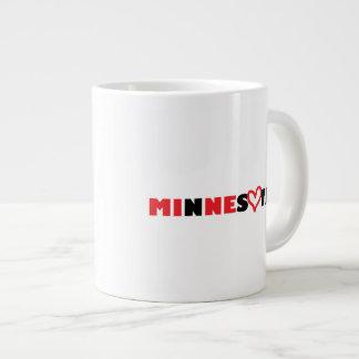 El corazón de Minnesota es el mío Tazas Extra Grande