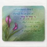 El corazón de una mujer - cala alfombrillas de raton