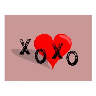 El corazón de XOXO abraza y los besos Postales