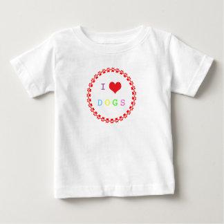 El corazón del amor del círculo I de Pawprints Playeras