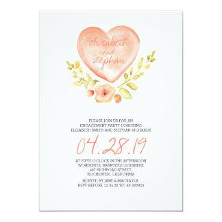 """el corazón del amor florece al fiesta de invitación 5"""" x 7"""""""