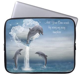 El corazón del bolso de la electrónica de los delf funda ordendadores