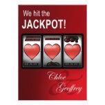 El corazón del bote de Las Vegas ranura el boda Invitaciones Personales