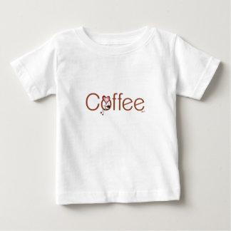 El corazón del café del amor embroma la camiseta remera