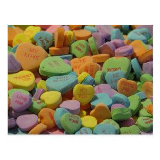 El corazón del caramelo sea el mío te amo postal