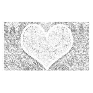 El corazón del cordón añade el texto plantilla de tarjeta de visita