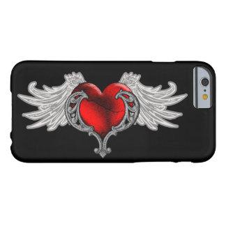 El corazón del gótico con ángel se va volando el funda barely there iPhone 6