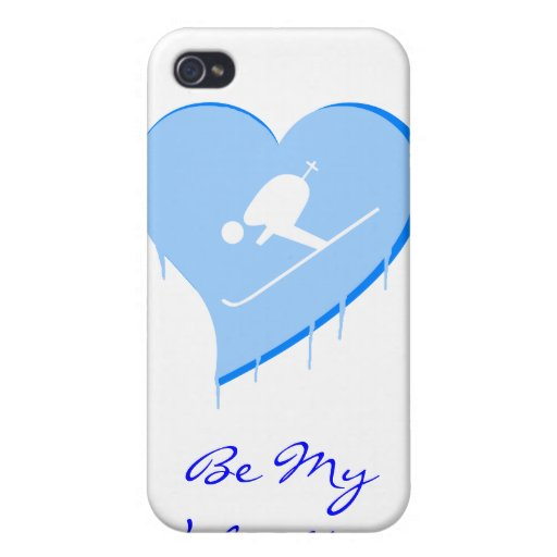 ¡El corazón del hielo del esquiador, sea mi tarjet iPhone 4/4S Carcasas