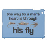 El corazón del hombre de los pescados de la mosca