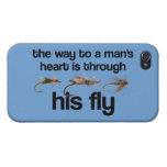 El corazón del hombre de los pescados de la mosca iPhone 4 coberturas