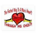 El corazón del hombre postales