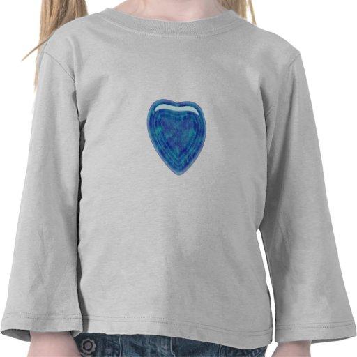 El corazón del jade del verde azul camisetas