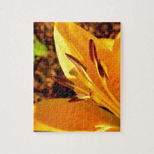 El corazón del lirio amarillo puzzles con fotos