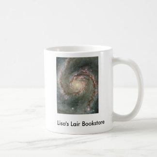 El corazón del promo de la librería de la galaxia taza básica blanca