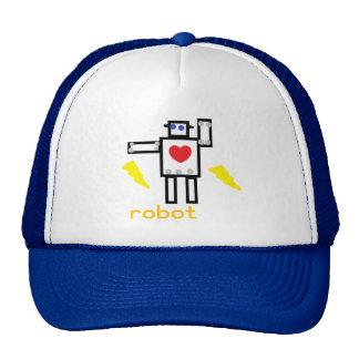 el corazón del robot gorro