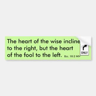 El corazón del sabio… - Modificado para requisitos Pegatina De Parachoque