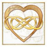 ¡El corazón doble 2 del oro del infinito - sea los