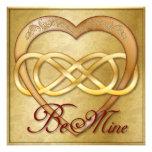 ¡El corazón doble 3 del oro del infinito - sea los