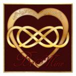 ¡El corazón doble 4 del oro del infinito - sea los