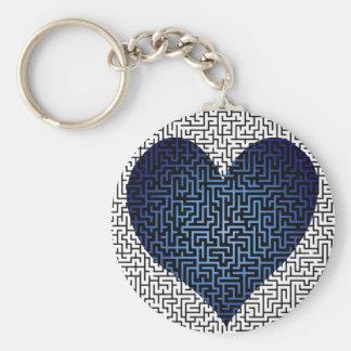 El corazón es un llavero del azul del laberinto