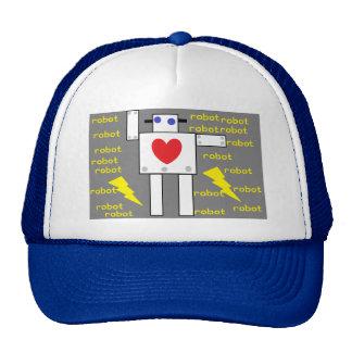 el corazón hat2 del robot gorros