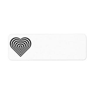 el corazón heart-155552 jerarquizó el blac del etiquetas de remite