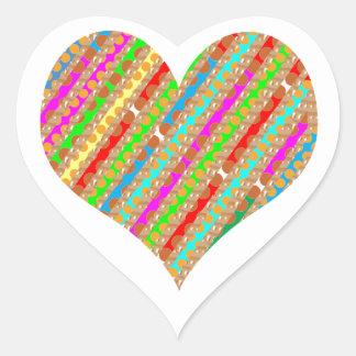 El corazón hecho del papel del sacador destroza el calcomania de corazon personalizadas