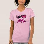 El corazón I del ojo de Emo me ama Camiseta