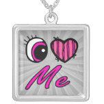 El corazón I del ojo de Emo me ama Joyerias