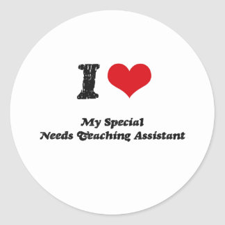 El corazón I mi Special necesita al profesor ayuda Pegatina