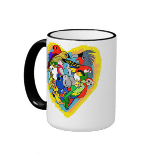 El corazón I repite mecánicamente el dibujo Taza De Dos Colores