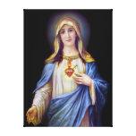 El corazón inmaculado de Maria Impresión En Lona