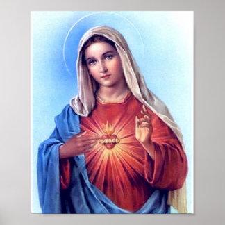 El corazón inmaculado del poster de Maria