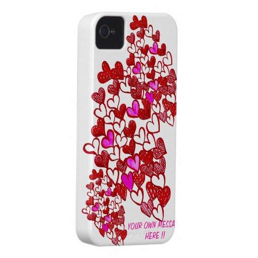 ¡El corazón IPHONE 4/4s de la tarjeta del día de Case-Mate iPhone 4 Carcasa