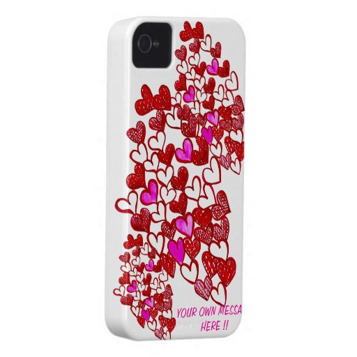 ¡El corazón IPHONE 4/4s de la tarjeta del día de S iPhone 4 Case-Mate Coberturas