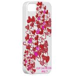 ¡El corazón IPHONE 5 de la tarjeta del día de San  iPhone 5 Coberturas