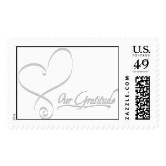 El corazón le agradece franqueo timbre postal