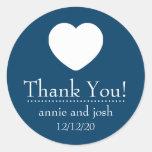 El corazón le agradece las etiquetas (los azules etiqueta redonda