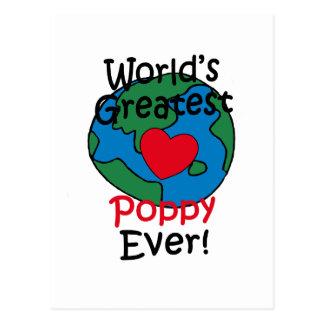 El corazón más grande de la amapola del mundo postal