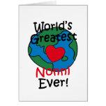 El corazón más grande de Nonni del mundo Tarjeta De Felicitación