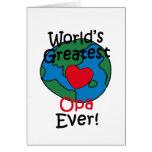 El corazón más grande de Opa del mundo Felicitaciones