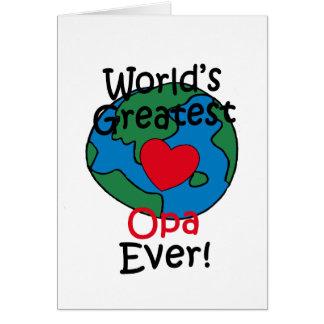 El corazón más grande de Opa del mundo Tarjeta De Felicitación