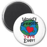El corazón más grande de YaYa del mundo Imán Redondo 5 Cm