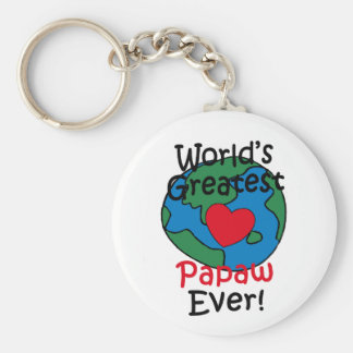 El corazón más grande del Papaw del mundo Llavero Redondo Tipo Pin