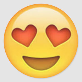 El corazón observa al pegatina de Emoji