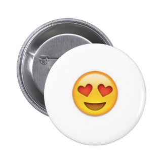 El corazón observa el botón del emoji pin redondo de 2 pulgadas