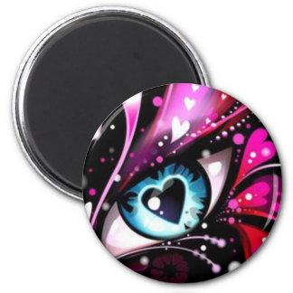 El corazón observa para usted solamente la colecci imán redondo 5 cm