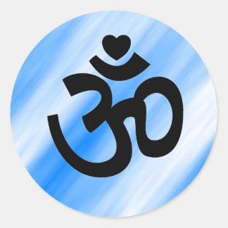 El corazón OM firma - al pegatina de la yoga